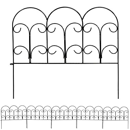 Sunnydaze 5 Piece Victorian Border Fence Set, 16 Inches x 18 Inches Wide Each Piece, 7.5 Feet Overall (Victorian Walkway)
