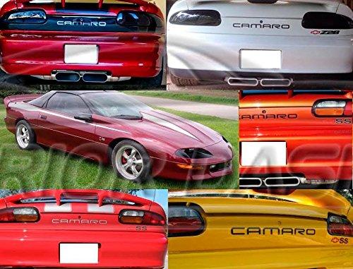 Chrome Bumper Rear Camaro (Chevrolet CHEVY CAMARO EXTERIOR REAR CHROME BUMPER INSERTS LETTERS EMBLEM TAILGATE TRIM SET LOGO 2000 2001 2002)
