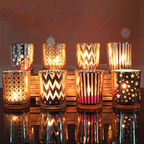 Rumas Gift Idea 6.8CM H Mercury Glass Votive Tealight Candle Holders for Weddings,Most Wished for Parties and Home Decor ()