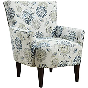 Amazon Com Roseville Blue Floral Club Chair Kitchen Amp Dining