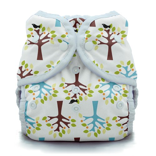 Thirsties Duo Wrap Cloth Diaper Cover- Snap - Blackbird - Size 2