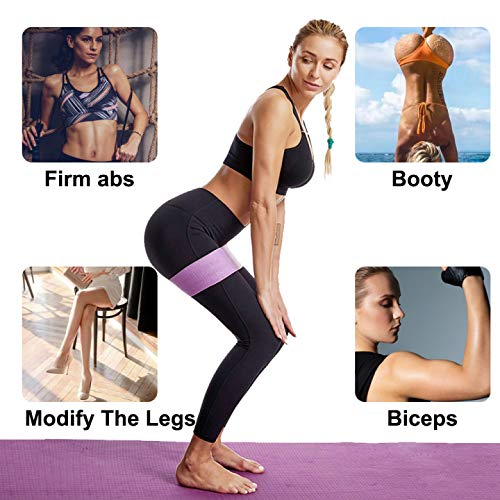 Rtudan Booty Bands, Exercise Resistance Bands for Legs and Butt, Thicken Anti-Slip Glute Bands,Sports Fitness Band, Stretch Workout Bands for Home Fitness,Set of 3