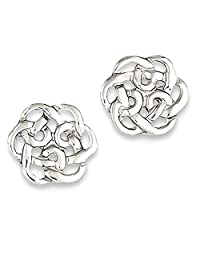 IceCarats 925 Sterling Silver Irish Claddagh Celtic Knot Post Stud Ball Button Earrings