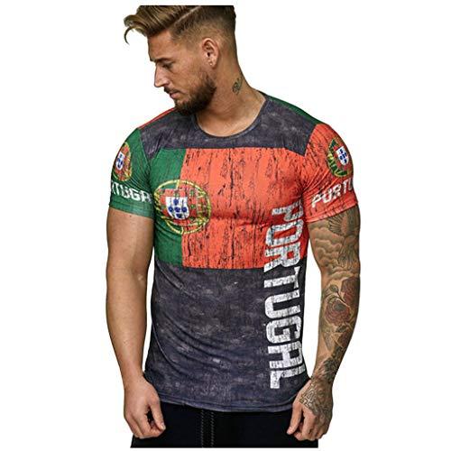 Mens Short Sleeve T-Shirt Cool 3D Print Shirts Football Club Men's T-Shirt Vintage World Cup Jersey Soccer T-Shirt (XL, Gray1) ()
