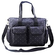 Minch Polka Dot Diaper mom bags- LXEM133 Fashionable Large Baby Diaper Bags Designer for Girls Dads Twins Mom (Red)