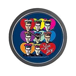 CafePress - I Love Lucy: Headshot Hearts - Unique Decorative 10 Wall Clock
