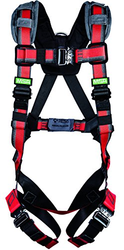 (MSA 10155559 Evotech Lite Line Harness with Quick-Connect Leg Strap and Back D-Ring, Standard )
