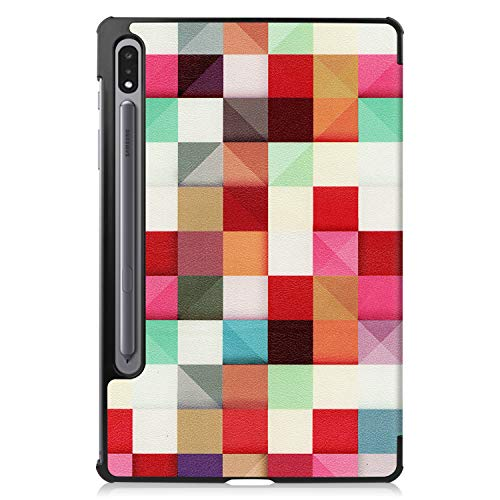 Ratesell Case Cover with Auto Wake Sleep for Samsung Galaxy Tab S7 11 Inches SM-T870, SM-T875 Cube