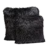 Donna Salyers' Fabulous Furs Donna Salyers Luxury Pillow, 18'' x 18'', Black Llama