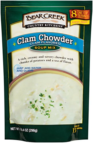 New England Clam Chowder - Bear Creek Soup Mix, Clam Chowder, 10.4 Ounce (Pack of 6)
