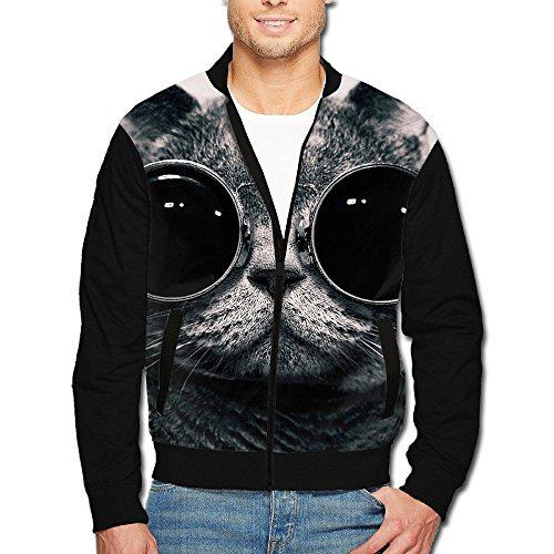 SCOOLY Cats Animals Sunglasses Hippie Schrodingers Men/Youth Long Sleeve Full Zip Jacket - Westbrook Sunglasses