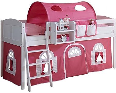 Etagenbett Kinder Abenteuer : Kinder etagenbett für mädchen aus massivholz kiefer in rosa weiß
