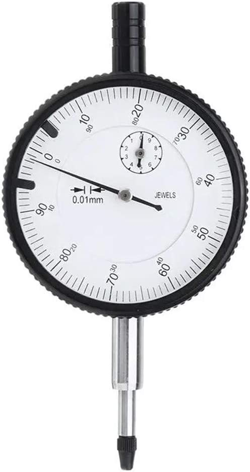 Precision Micrometers Precision Dial Indicator Resolution 58mm Table Diameter with Drill Bit Dial Gauge 0.01mm Color : Black, Size : One Size