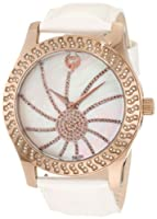 Brillier Women's 03-52424-11 Kalypso Bronze-Plated White Leather Watch by Brillier