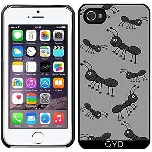 Funda para Iphone 5/5S - Feliz Hormigas Negro by zorg