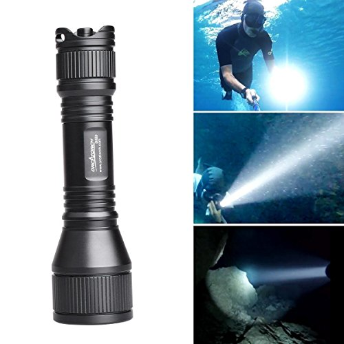ORCATORCH D550 Dive Light 970 Lumens Scuba Safety Torch XM-L2 LED Submarine Flashlight