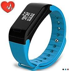 Pulsera inteligente Pulsera Reloj,Monitor de frecuencia cardíaca,Presión arterial Rastreador de ejercicios