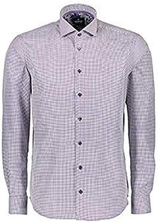 LERROS Camisa de Hombre Modern Fit Haikragen Lunares Púrpura ...