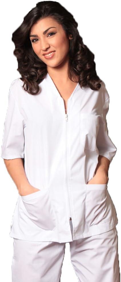 Uniforme de médico o centro estético, de algodón, bianco, L ...