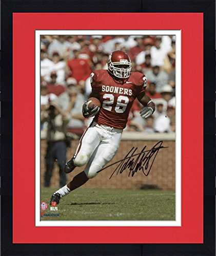 Adrian Peterson Framed - Framed Adrian Peterson Oklahoma Sooners Autographed 8