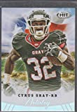 2012 Sage Hit Cyrus Gray Chiefs Artistry Football Card #ART-5