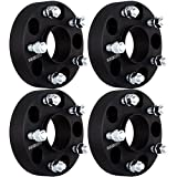 4Pcs 1.5'' 38mm thick 5x5 5x127 hubcentric wheel spacers 1/2'' for Grand Cherokee Commander 2007-2017Jeep Wrangler JK Black