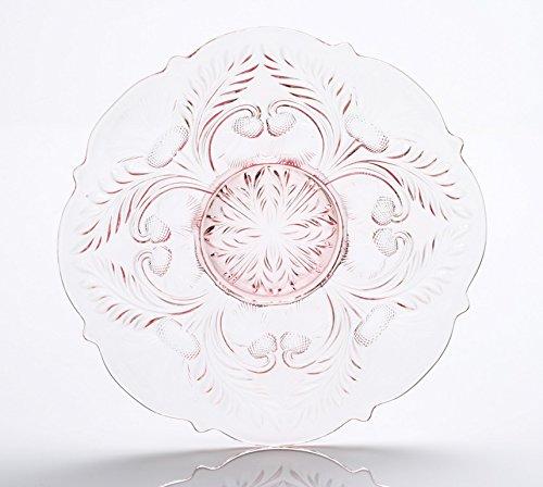 Deviled Egg Plate - Inverted Thistle - Mosser Glass (Pink)