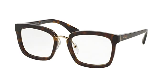 e4cf60e6c4 Prada Women s PR 09SV Eyeglasses Havana 53mm at Amazon Men s ...