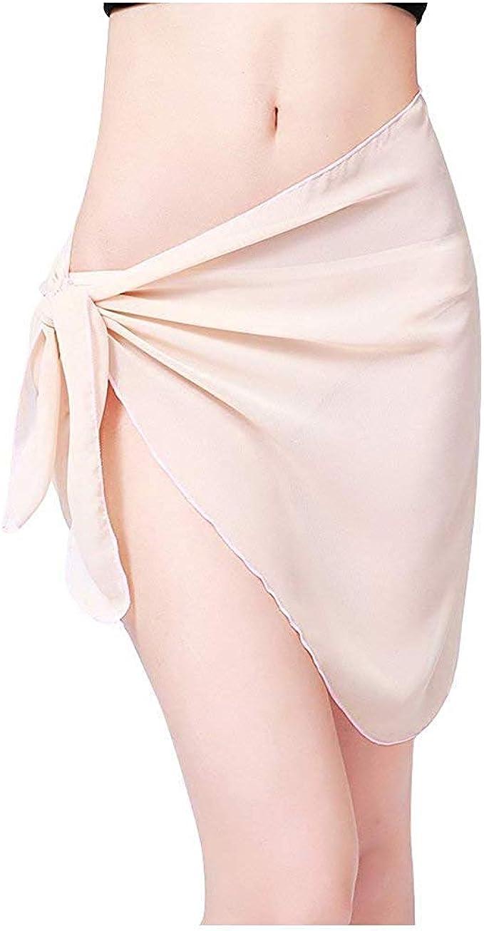 Falda Cruzada De Sólido Mujer Sarong para Color Pareo Mode De ...