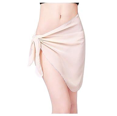 Falda Cruzada De Color Ropa Festiva Mujer Sólido Sarong para Pareo ...