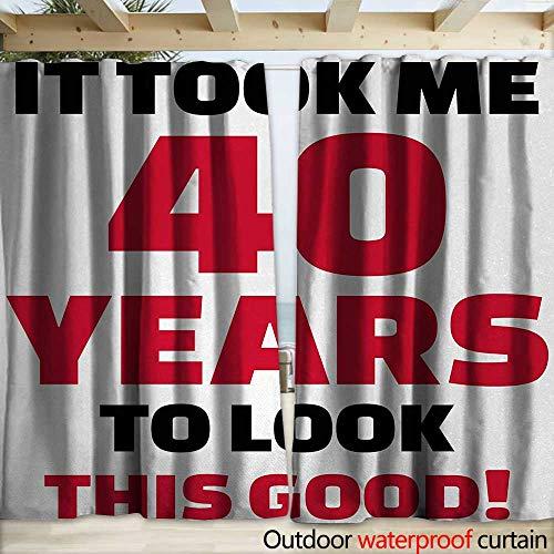 warmfamily 40th Birthday Drape for Pergola Curtain Forty