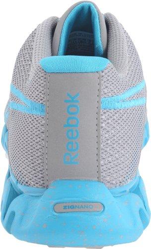 Reebok Womens Zigfuse Scarpa Da Corsa Tin Gray / Steel / Feather Blue