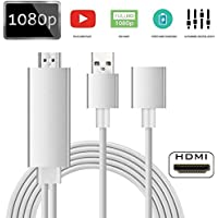 Lightning to HDMI Cable Adapter, WEILIANTE Lightning Digital AV Adapter for iPhone Samsung iPad to Mirror on HDTV Projector - Plug and Play MHL Cable