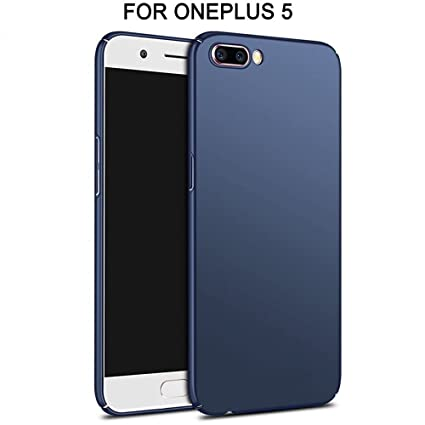 huge discount 000bf eba86 NewBreed Cover for 1Plus 5 Cover (Back Cover, Polycarbonate, Matte Finish,  Four Cut Design, Anti Slip, Easy Installation for One Plus Five -Blue