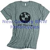 BMW Genuine Men Vintage Distressed T-Shirt Tee Shirt Heather Grey L Large
