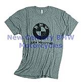 BMW Genuine Men Vintage Distressed T-Shirt Tee Shirt Heather Grey M Medium