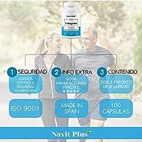 Colágeno hidrolizado. Colágeno + Acido hialurónico + Vitamina C + Zinc, 100 cápsulas. El Complemento alimenticio perfecto para la piel, mantenimiento ...