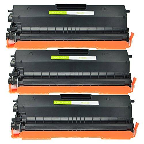 NineLeaf 3 Pack High Yield Black Toner Cartridge Compatible TN436 TN-436 TN436BK for Brother HL-L8260CDW HL-8360CDW DCP-L8410CDW MFC-L8690CDW MFC-L8900CDW Printer,Yield of 6500 Pages -  NineLeaf Tech, NL-AMA001-TN436BK-3PK