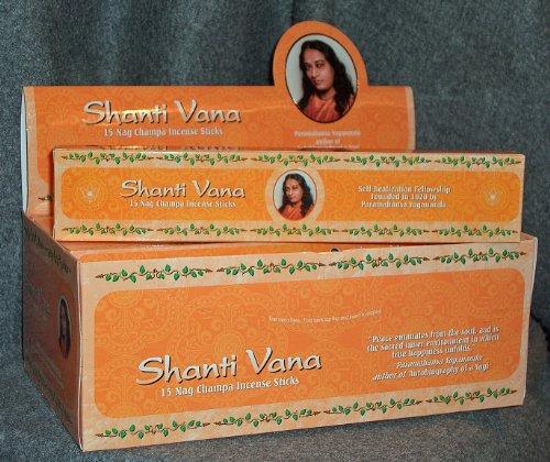 Shanti Vana Nag Champa Incense Sticks - 12 Boxes of 15 Sticks Each (Shanti Incense)