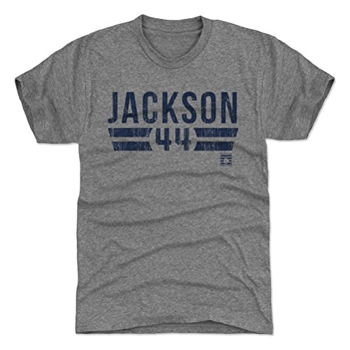 500 LEVEL Reggie Jackson Triblend Shirt XX-Large Tri Gray - Vintage New York Baseball Men's Apparel - Reggie Jackson Font B (Jackson Shirts Reggie)