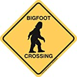 Badgerworks Signs & Designs Bigfoot Crossing Sign