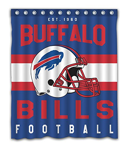 Buffalo Bills Shower Curtain - Sonaby Custom Buffalo Bills Waterproof Fabric Shower Curtain For Bathroom Decoration (60x72 Inches)