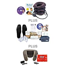 DR-HO'S® Neck Comforter - Ultimate Package (Includes BONUS DR-HO'S Pain Therapy System, DR-HO'S Neck & Shoulder Shiatsu Massager, 8 Small Massage Pads, 2 Large Flex Tone Pads, Circulation Boosting Foot Massage Pads, DR-HO'S Magic Heat Pad, Spinal Secrets DVD, Pain Relief Book & Travel Bag)