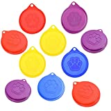 10 can lids - M-Aimee Pack of 10 Pet Cat Dog Food Storage Can Covers Lids, Random Color