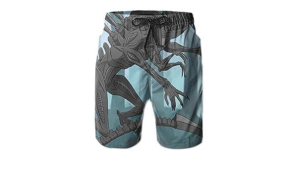 HZamora/_H Men Red Fantasy Dragon Summer Breathable Quick-Drying Swim Trunks Beach Shorts Board Shorts