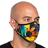 Debrief Me Dust Mask - Anti Pollution Breathable Respirator Mask (1 Mask + 6 Filters) Military Grade N99 Flu Mask Carbon Activated Filtration - Reusable Washable - Comfy Cotton Adjustable (Yellow)