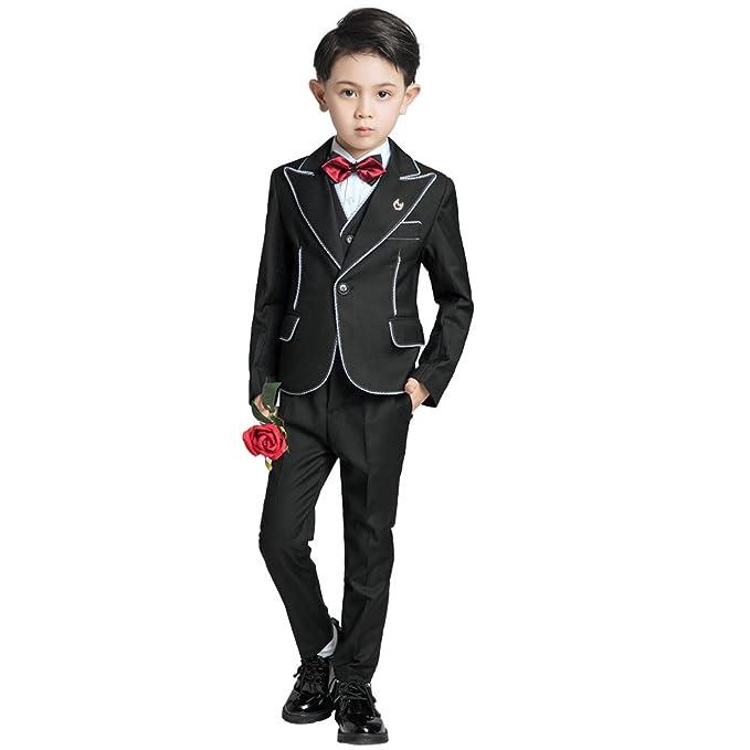 Amazon.com: Yuanlu 5 piezas Trajes Niños Esmoquin para niños ...