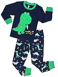 Boys Dinosaur Pajamas Children Christmas Clothes 100% Cotton Size 4 Years