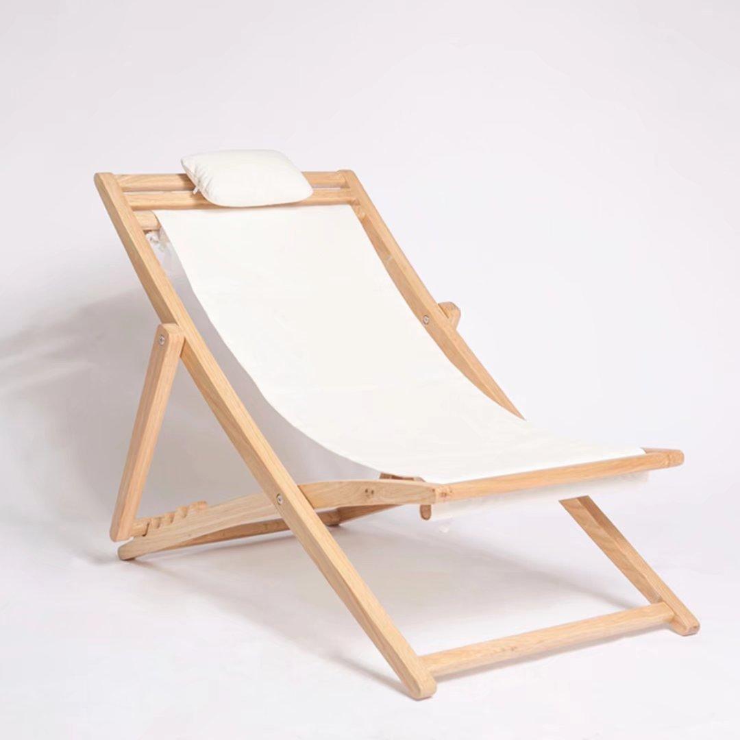 Freizeit Outdoor Montage Massivholz Happy-Stuhl, zusammenklappbar