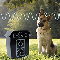 Ultrasonic Dog Bark Control Controller and Deterrent, Works Great Indoor and Outdoor, Includes FREE Anti Bark Dog Whistle - Effective Dog Behavior Training Tool, Up to 50 Feet Radius (Kit)